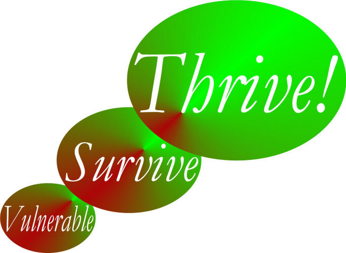 Thriving Future logo graphic